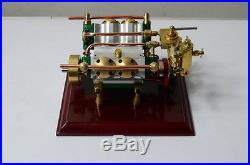 The V4-cylinder steam engine (with Steam boiler feed pump