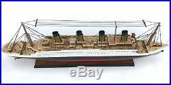 Titanic Wood Wooden Model Cruise Liner Ship Boat 23 Nautical Display Collection
