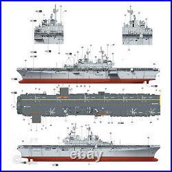Trumpeter 1/350 Uss Wasp Lhd-1 Amphibious Assault Ship Model Kit 05611