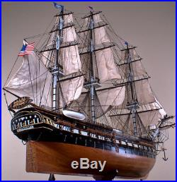 USS CONSTITUTION 44 wood model ship large scaled American sailing boat