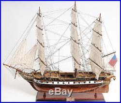 USS Constellation Frigate Tall Ship 38 Built Wooden Model Sailboat Assembled