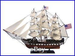 USS Constitution 24 Old Ironsides Replica Wood Boat Model Ship