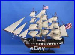 USS Constitution 24 Tall Wooden Model Warship Decorative Ship Pre-Assembled New