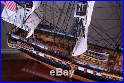 USS Constitution 36 wood ship model sailing American tall boat