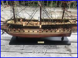 USS Constitution Old Ironsides Wooden Tall Sailing Ship Model