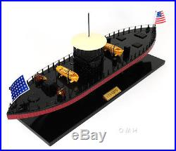 USS Monitor Civil War Ironclad Wooden Ship Scale Model 24 ...