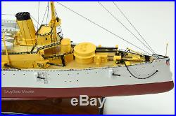 USS Olympia Protected Cruiser Handmade Wooden Ship Model 36 Scale 1/115