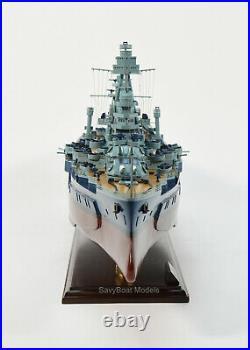 USS Texas BB-35 New York-Class Battleship 36 Wooden Ship Model
