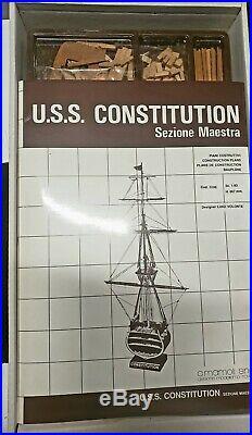Uss Constitution Sezione Maestra Model Ship, Midship Section, C. Mamoli, New In Box