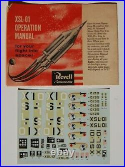 Very Rare Revell Xsl-01 Manned Space Ship (1957) S Kit Missing One Part