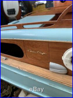 Vintage 1960's 49 R/C Chris Craft Corvette Sterling Boat Model Free Shipping