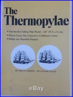 Vintage 1974 Revell Thermopylae Clipper Ship 1/96 scale H390-1200 Complete Kit