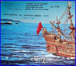 Vintage Mantua La Couronne Ship Model Kit Scale 1100