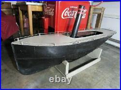 Vintage Original Live Stuart Steam Engine Model Ship With Reverse 64'' Long