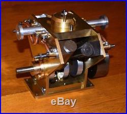 Vintage Running V Steam Engine Four Cylinder Marine Model Boat Ship Rc Scale Llb