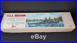Vintage Sterling Models 55 1/2 USS Missouri Wooden Battleship Model Ship Kit