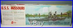 Vintage Sterling Models U. S. S. MISSOURI withB 17-F Ship Fittings Set 55 1/2