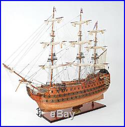 XL HMS Victory Lord Nelson's Flagship 58 Tall Ship Model Wooden Fully Assembled