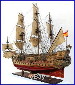 XL San Felipe Tall Ship Model 56 Wooden Fully Built Spanish Galleon Vessel New